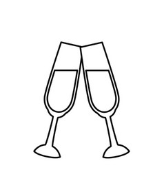 champagne cup crystal vector image