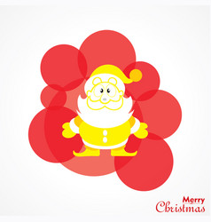 Christmas greeting with symbols vector