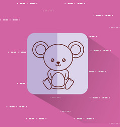 cute mouse icon image vector image vector image