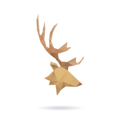 Deer head abstract isolated vector image vector image