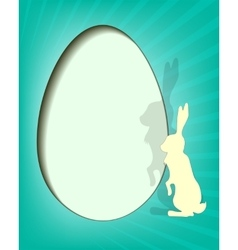 design Easter eggs with rabbit vector image vector image
