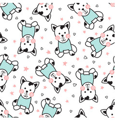 dogs pattern vector image vector image