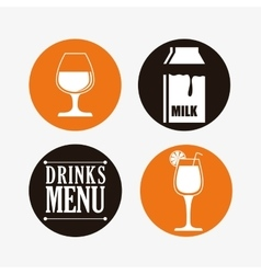 Drinks collection design vector image