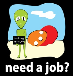 Employment Job Background vector image