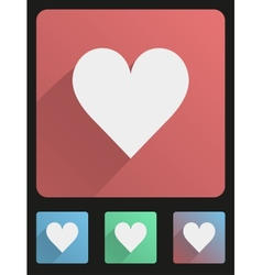 Flat icon set heart vector