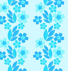 forget-me-not seamless pattern vector image