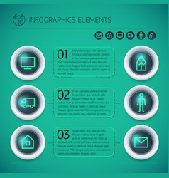 geometric business options infographics vector image vector image
