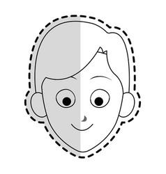 happy boy kid or child icon image vector image vector image