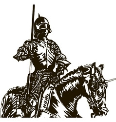 Knight on a Horse vector image