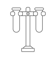 Laboraty tube design science icon graphic vector