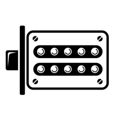 Push button lock icon simple style vector
