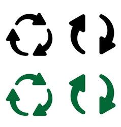 reload arrows vector image vector image