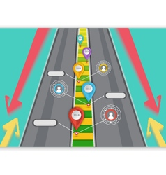 Road targeted business vector