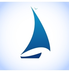 sailing template boat logotype vector image vector image