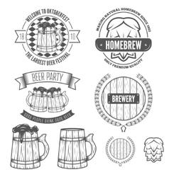 Set of vintage badge emblem or logotype elements vector image vector image