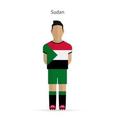 Sudan football player soccer uniform vector