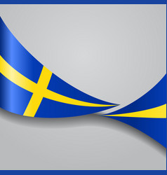 swedish wavy flag vector image