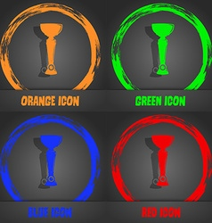 trophy icon Fashionable modern style In the orange vector image