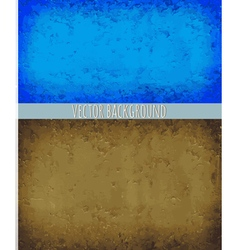 Two backgrounds blue and brown vector image