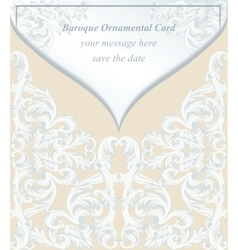 Vintage baroque envelope invitation card imperial vector