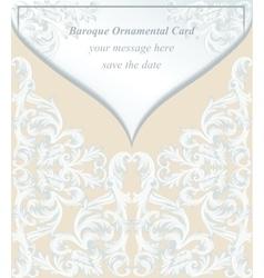Vintage Baroque envelope Invitation card Imperial vector image