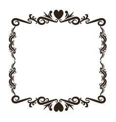 vintage baroque frame scroll floral ornament vector image