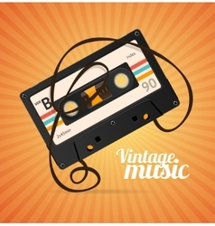 Vintage music background vector