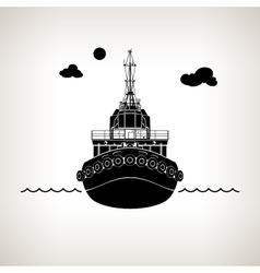 Silhouette of Push Boat vector image
