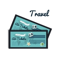Tickets airplane travel design vector