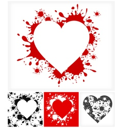 Splash heart shape vector
