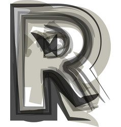 Abstract letter r vector