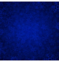 blue snow vector image