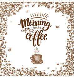 morning begins after coffee vector image