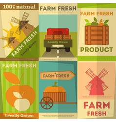 Organic food posters vector
