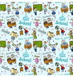 Seamless pattern with kids vector