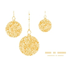 Golden lace roses christmas ornaments silhouettes vector