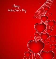 Beautiful red heart background vector