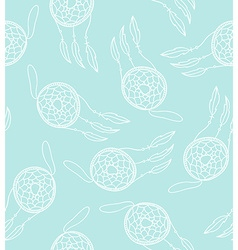 Ethnic seamless pattern with dreamcatcher vector