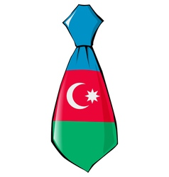 Necktie in national colours of azerbaijan vector