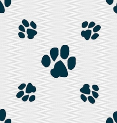 Trace dogs icon sign seamless pattern with vector