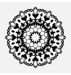 Seamless abstract background with round lace vector