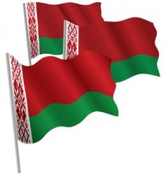 belarus 3d flag vector image