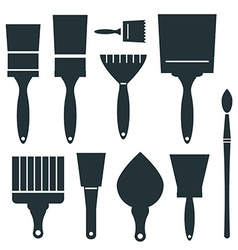 Brushes icons set - brush isolated on white vector