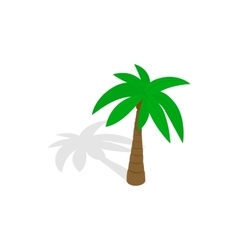 Palm tree icon isometric 3d style vector image