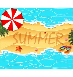 Summer theme background wtih beach and sea vector