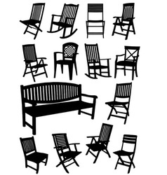 al 0231 chairs vector image