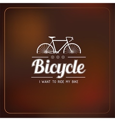 Bicycle label vector
