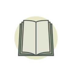 book coloful icon vector image vector image