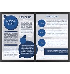 Brochure design template in eps vector image