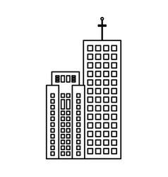 Building real estate skyscraper outline vector